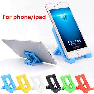1x Mini Adjustable Plastic Bracket Mobile Phone Stand Holder Mount Table Desk CA