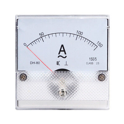 1pc Square Analog Panel Amp Current Meter Ac 0-150a Ammeter Gauge Dh-80 8080