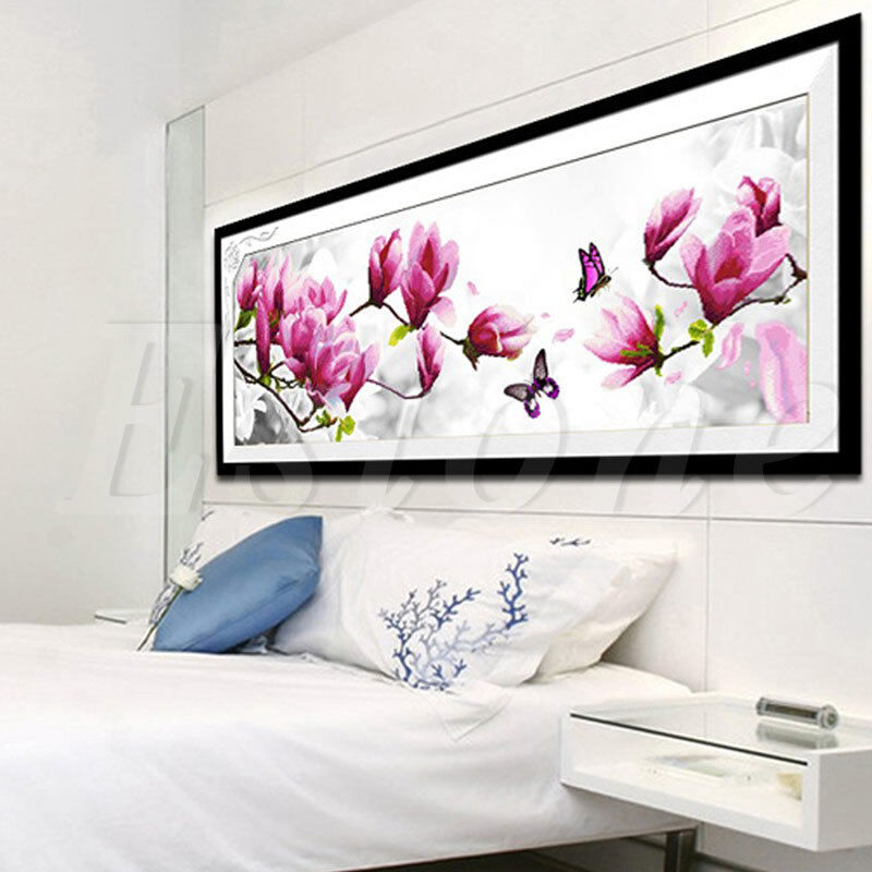 Diy 5d flower butterfly embroidery diamond painting cross for Home decor 5d