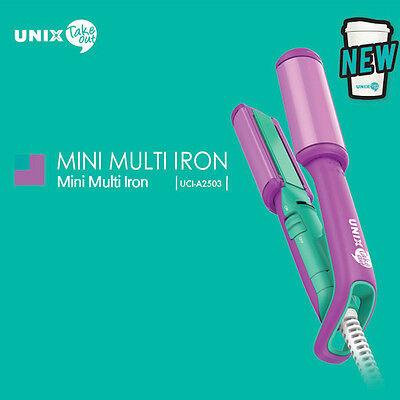 UNIX Take Out Mini Multi Iron UCI-A2503 Straightener 220V Travel Hair Styling