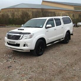 2014 Toyota Hi-Lux 3.0D-4D 2014MY Invincible White, Manual, Full Leather, Canopy