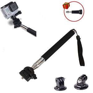 extendable selfie stick monopod pole tripod mount for gopro camera accessories. Black Bedroom Furniture Sets. Home Design Ideas