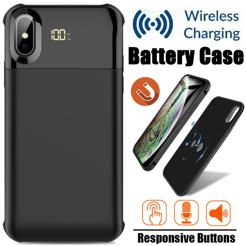 For iPhone XS Max Wireless Battery Case Qi Magnetic Charging
