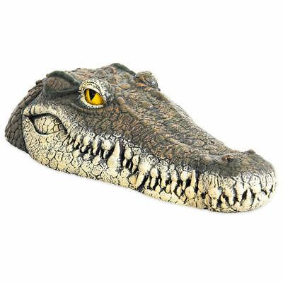 Krokodil Kopf (Dekofigur Gartenfigur Schwimmtier Krokodil Kopf Garten Teich Neu)