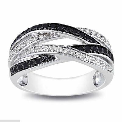 Topaz Onyx - Black Onyx  White Topaz  Ring  925 silver  size  10