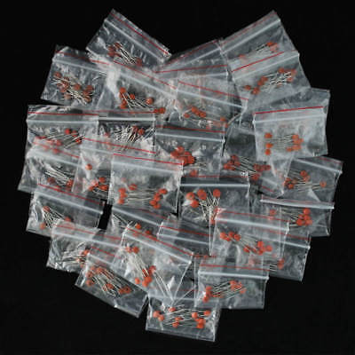 300pcs 30values 2pf-0.1uf Ceramic Capacitor Assorted Kit Assortment Set New