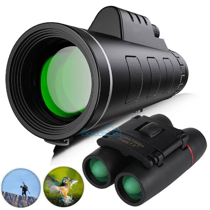 Pro BAK4 Telescope 40X60 Starscope Binoculars Night Vision High Power Waterproof