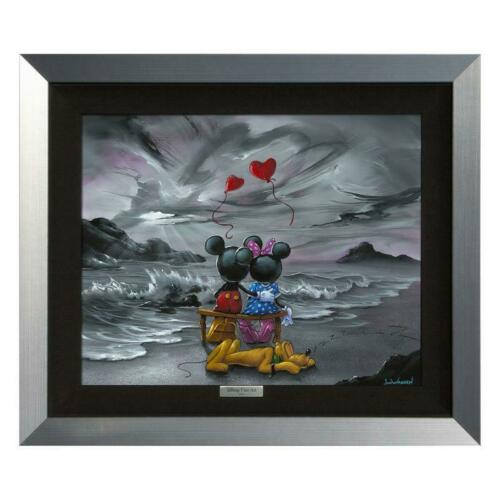 "Disney Fine Art Warren ""mickey And Minnie Forever Love"" Framed Limited Edition"