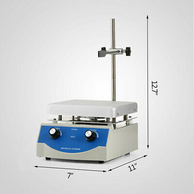 Hot Plate Magnetic Stirrer Mixer Machine Dual Control Lab Equipment 110v