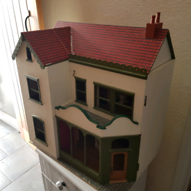 Victorian style wooden dolls house/shop