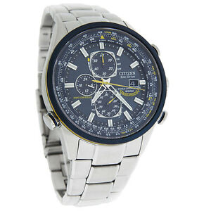 Citizen Eco-Drive Mens Blue Angel Radio Controlled World Time Watch AT8020-54L