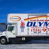 CALL 514-935-3300 OLYMPIQUE MOVING ARE READY TO SERVE YOU ! 1934