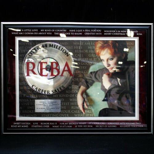 REBA MCENTIRE Platinum Record 44 Million Sales