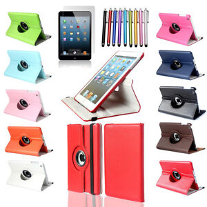 New Apple iPad 2/3/4/Mini/Air Pro Rotating Leather Case Cover