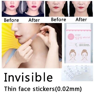 Face Lift Cosmetics - 40Pcs Facial Lift Up Adhesive Tape V-Shape Face Label Fast Makeup Chin Tools US