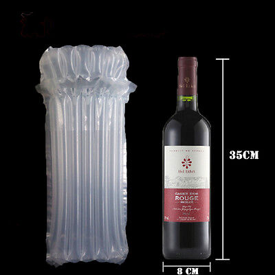 50 Pcs Inflatable Wine Bottle Air Bag Packaging Protection Bubble Package 35cm