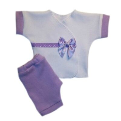 Delightful Lavender Baby Girl Shorts Shirt Clothing. 4 Preemie and Newborn Sizes