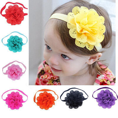 8PCS Toddler Baby Girl Kids Flower Headband Props Hair Band Headwear Accessories