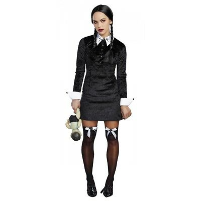 Halloween Adult Fancy Dress (Wednesday Addams Costume Adult Halloween Fancy)