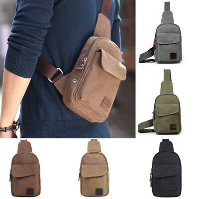 (Anti-Theft Men Chest Messenger Sling Bag Casual Shoulder Small Crossbody Bags)