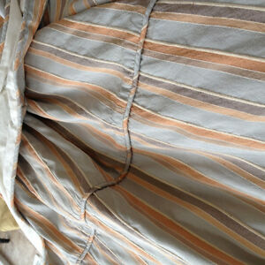 Silk lined King Box Pleat Bed Spread