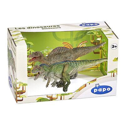 - Papo Dinosaurs Display Box 80102 Ceratosaurus and Spinosaurus Figures NEW