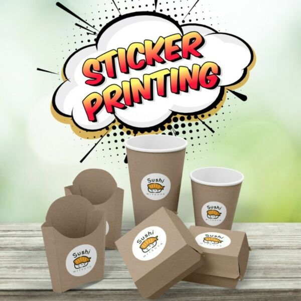 sticker printing mirrorcote any die cut shape
