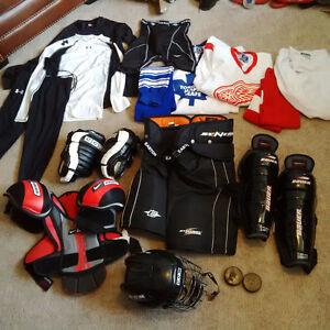 twice used hockey gear