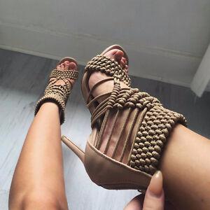 Brown Rope Heels (BRAND NEW)