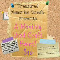 Monthly Used Craft Supplies Event