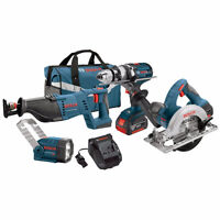 Factory Sealed: Bosch 18-Volt Lithium Ion Cordless 4-Tool kit