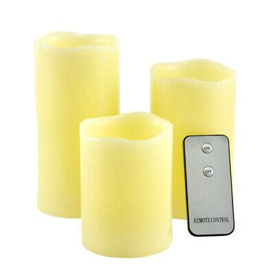 Tre Candele LED Senza Fiamma Vera Cera con Telecomando Effetto Candela Accesa
