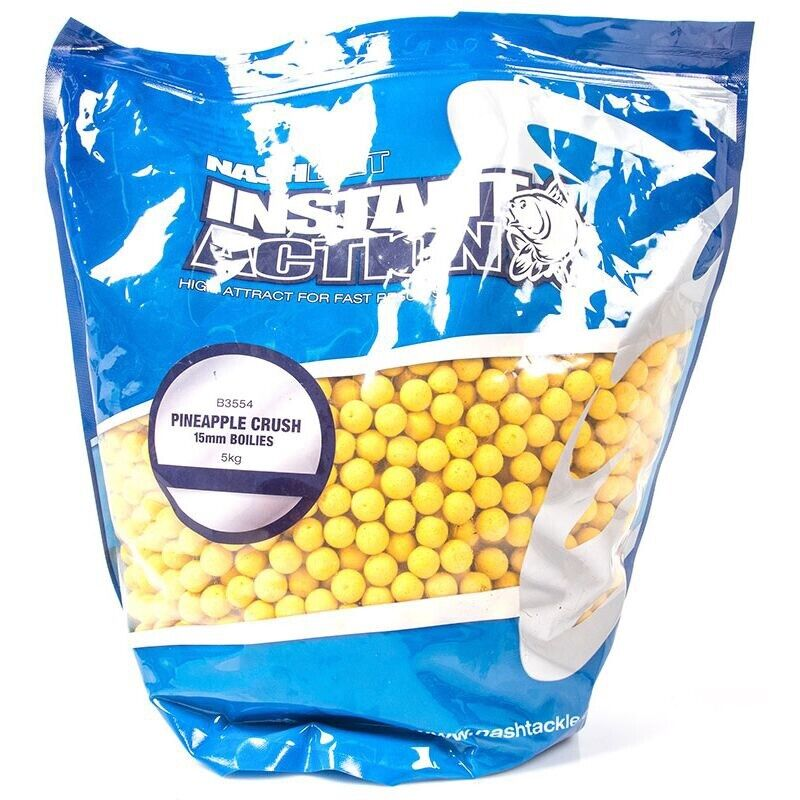 5kg 15mm Nash Instant Action Pineapple Crush Boilie Futterboilie Karpfenangeln