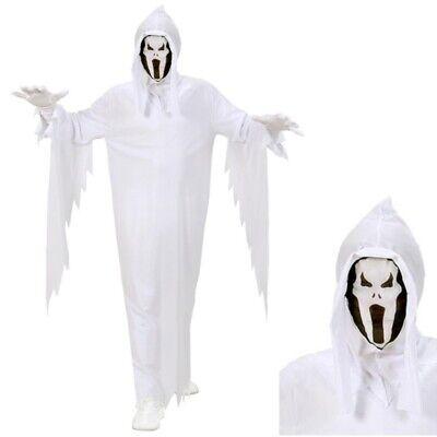 GEISTER KOSTÜM & MASKE für Kinder Halloween Gespenster Jungen Monster  - Kostüm Weisse Maske