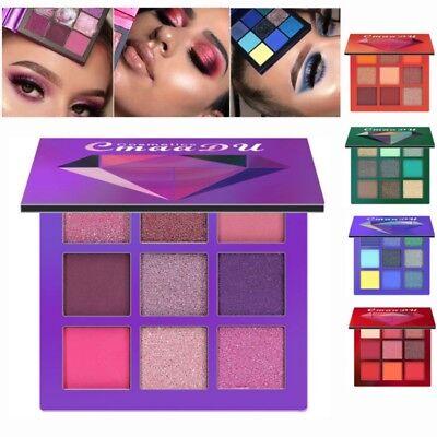 9 Colors Glitter Shimmer Metallic Matte Eyeshadow Palette Pigment Eye Shadow Set