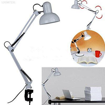 E27 LED Desk Lamp Swing Arm Bedside Lamp Reading Bedroom Adjustable Table Light