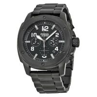 FOSSIL Machine Chronograph Black Dial Black Ion-plated  Watch