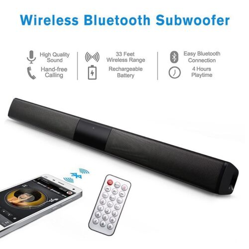 Wireless Bluetooth 4.2 Sound Bar Speaker TV Home Theater Soundbar Subwoofer AUX