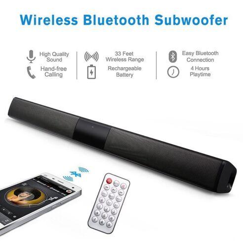 Wireless Bluetooth 4.2 Sound Bar Speaker TV Home Theater Soundbar Subwoofer AUX