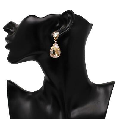 "1.56"" champagne gold teardrop Rhinestone Crystal Pageant Dan"