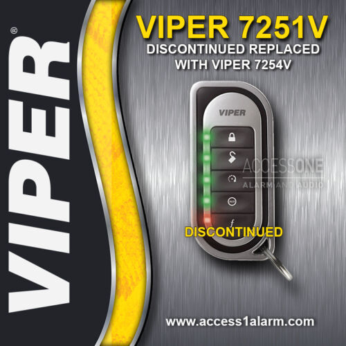 Viper 7251V 2-Way LED Replacement Remote Control Transmitter EZSDEI7251 7254V