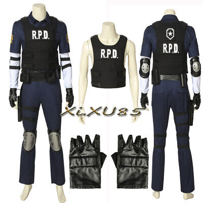 Resident Evil 2 Remake Biohazard Re:2 Leon Cosplay Costume Halloween Chrismas