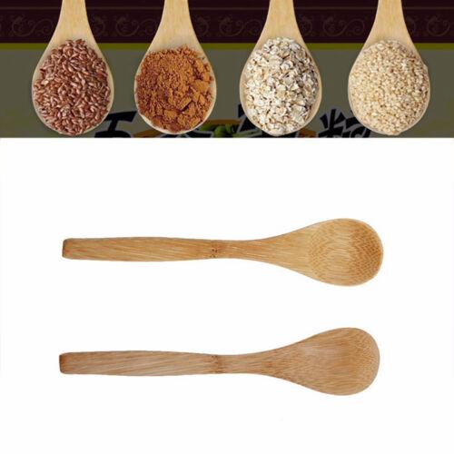 2/4/6 STK Praktische Küchenhelfer Bambus Kochlöffel Teilig Behälter Küche Holz