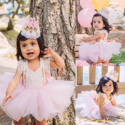 Newborn Baby Girl Lace Romper Jumpsuit+Fancy Tutu Skirts Dre