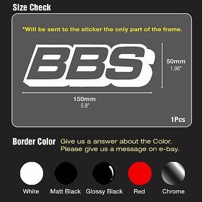"""BBS Speed Mania Fashion Decal Sticker 150mm x 50mm (5.9""""x1.96"""") For All Vehicles"""