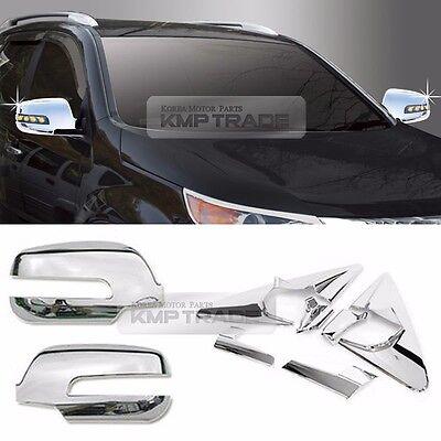 Chrome Mirror Bracket Garnish Mirror Cover Molding 6P For KIA 2010-14 Sorento R