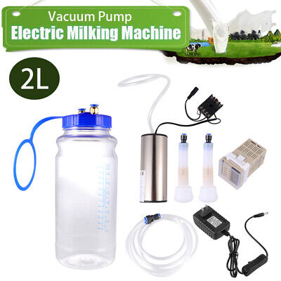 2l Portable Electric Milking Machine Vacuum Pump For Farm Cow Goat Milking