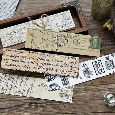 Chinese Style Paper Bookmark Vintage Retro Flower Book Mark For School 30pcs #YA