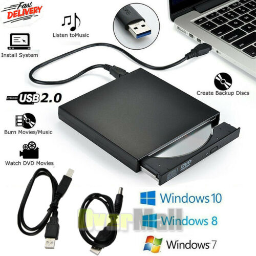 USB 2.0 External DVD-R CD±RW Combo Burner Drive DVD ROM for