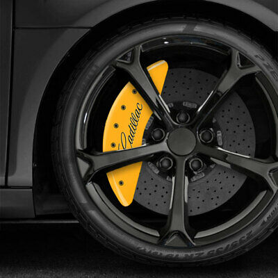 Yellow MGP Caliper Covers w/Cadillac/XTS fits 2013-2017 Cadillac XTS Sedan